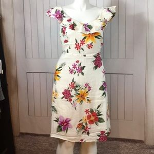 NWT OLD NAVY CREAM FLORAL COLD SHLDR 2X PLUS